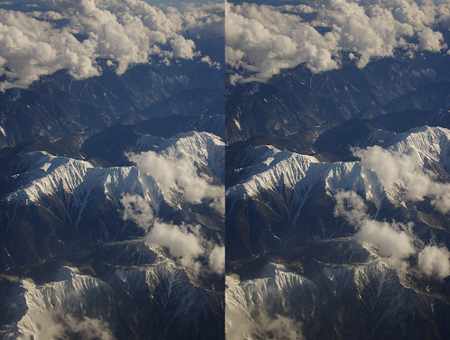 Mount Kita, stereo parallel view
