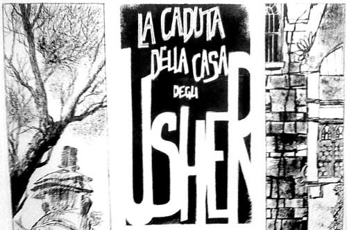 Dino Battaglia- La caduta della casa di Usher (dettaglio)