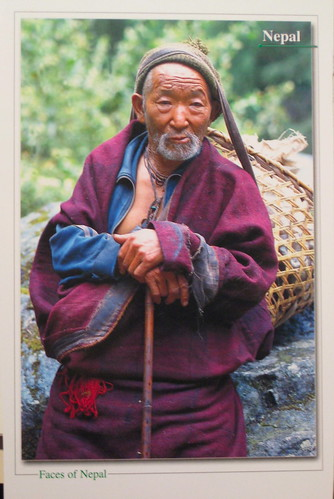 Old man of Manaslu region
