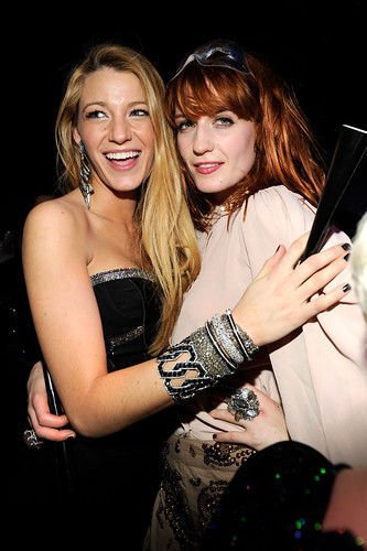 Actress Blake Lively and Singer Florence Welch New Year's Eve at Marquee Nightclub in The Cosmopolitan of Las Vegas