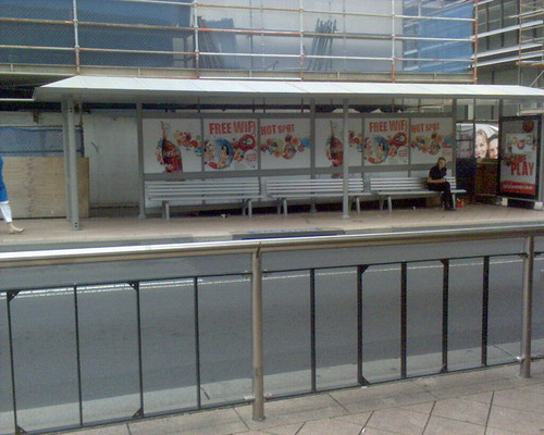 WiFi bus stop in Chatswood