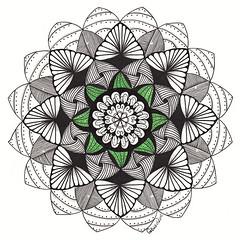 mandala012 (Amaryllis Creations) Tags: mandala penink zentangle