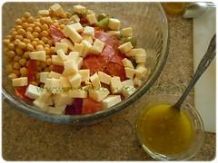 Ingredientes y vinagreta