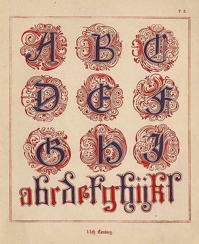 004- Medieval Alphabets and Initials 1886- F.G. Delamotte- Copyright 2006 illuminated-book.com& libros-iluminados.com