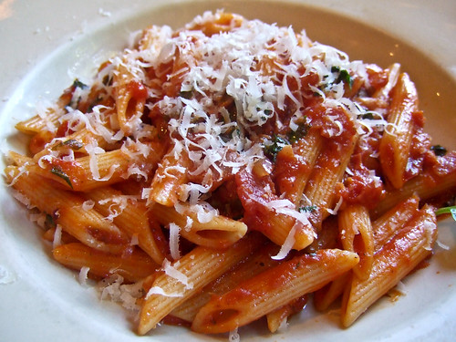Penne Amatriciana at Nino's