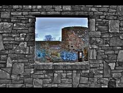 The Castle was Framed! (kroess.photo.) Tags: winter ny color castle ruins framing selective tonawanda