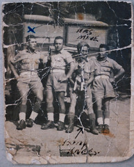 'He's Mine' - Grandad Charlie (zombikombi1959) Tags: family blackandwhite italy chevrolet soldier northafrica grandfather khaki driver grandad ra drill lowe suez royalartillery rasc royalarmyservicecorps dispatchrider