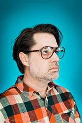 Stock-085-20110107.jpg (T. Scott Carlisle) Tags: glasses rocks teal products judy lumberjack plm tsc plaidshirt tscottcarlisle tscottcarlislecom