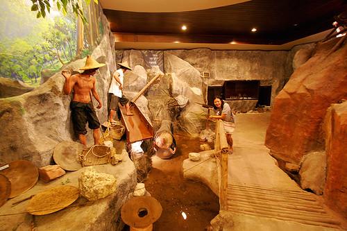Tin mining diorama