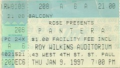 01/09/97 Pantera/Neurosis @ St. Paul, MN