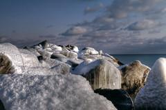 Icy Pier (Dan Cronin^) Tags: winter snow toronto ontario canada ice dan photography photographer lakeontario cronin blogto ndfilter dancronin exposurefusion dancroninjpg wwwacityreflectedcom