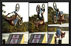The flip (bobo moirangthem) Tags: life newzealand shirtless lake water bike danger nikon risk action adventure collection auckland flip cycle brave series biker chill takapuna 85mmf18 d90 pupuke