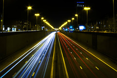 - 10/365 - (Pieter D) Tags: light brussels night highway traffic antwerp 365 a12 project365 pieterd mostly365 3652011 365the2011edition