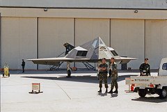 F-117A Nighthawk (Roger Smith) Tags: skunkworks stealth airforce lockheed usaf nighthawk f117 f117a stealthfighter useofdeadlyforceauthorized haveblue senortrend hopelessdiamond