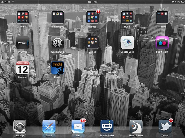 current apps on the home screen of my iPad #before12amafter6pm