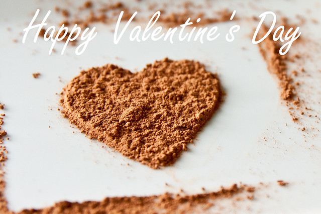Cocoa Powder Heart