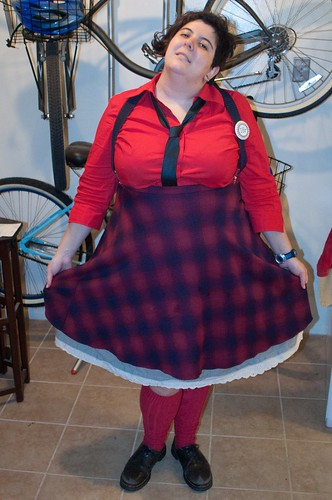 what I wore, fire engine, fat fashion, marina rose martinez