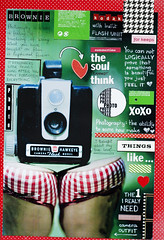 camera :: love (ania-maria) Tags: camera vintage bench scrapbooking layout shoes kodak flash lo retro doodle brownie hawkeye scrap elsie ils doodling xoxo lovemerry ilowescrap aniamaria masochistki