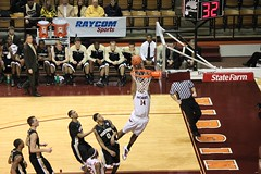 Victor Davila dunks against wake forest