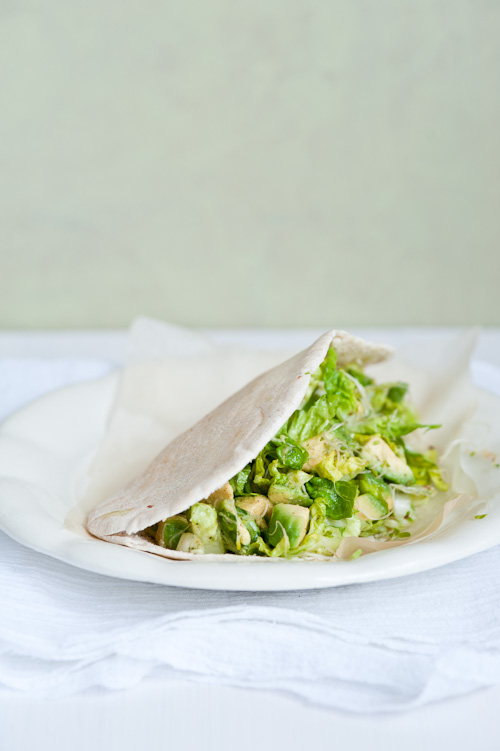 Avocado and alfalfa pita