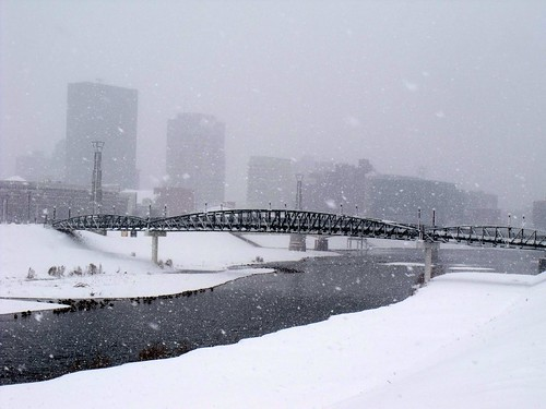 Snow, Wintery, Outdoors, Downtown