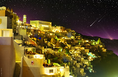 Fira By Night (Ben Heine) Tags: city longexposure houses light wallpaper sky panorama inspiration art colors architecture project stars island photography hope freedom scenery energy colorful exposure dof village purple image pov lumire quality air horizon hill arts picture sharp oxygen santorini greece ciel libert mauve series astronomy conceptual copyrights comet moutain cosmos solarsystem licence settlement toiles imagery ecosystem fira artistry milkyway volcan workflow thera le shootingstar luminosity postprocessing longueexposition aegeansea theartistery voielacte digitaltechnology creativecomposition benheine samsungimaging nx10 benheinecom magicfairytail tourismoia