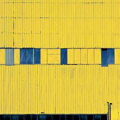 hey chiquitita... (barbera*) Tags: blue toronto lines yellow metal facade grit 1 industrial pipes bananas etobicoke siding dots chiquita barbera glassfactory 500x500 consumersglass 8523e tgamphotodeskgeometry