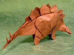 Stegosaurus (Kawahata Fumiaki) (M@ttyGroves) Tags: origami dinosaur stegosaurus papiroflexia kawahata fumiaki