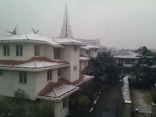 Light snow in Shanghai (Jan 19, 2011)