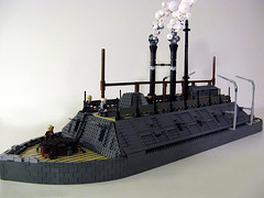USS Cairo-Smoke Test          Brickshelf Gallery when moderated: (M.R. Yoder) Tags: toy boat ship lego wip hobby steam plastic cairo smokestack uss moc ironclad