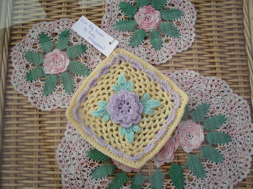 moleymakes - Pretty Square for our Flower Challenge 'Irish Rose Square', so lovely in these pastel colours!