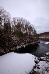 Quabbin (SPierceUrbex) Tags: statepark trees snow ice nature ma rocks massachusetts reservoir quabbin ware belchertown dcr windsordam barefrozen