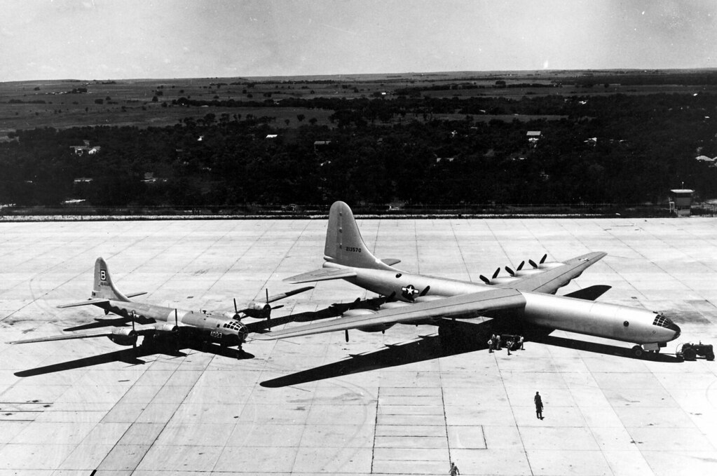 XB-36 Peacemaker & B-29 Superfortress