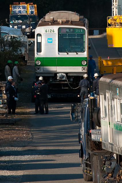 東京地下鉄千代田線6000系 6126F 搬出