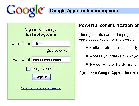 Login to Google Apps - blankpixels.com
