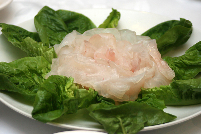 Raw toman fish slices