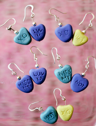 Valentine Candy Heart Earrings!