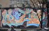 (Laser Burners) Tags: nyc newyorkcity snow brooklyn graffiti wolf shadows wideangle williamsburg aok tpa citynoise