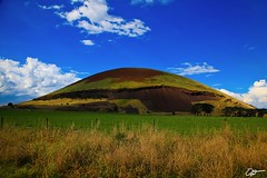 Mount Elephant, VIC (hangingpixels-OLD ACC) Tags: blue shadow sky cloud sun elephant field cone australia victoria mount vic filters grassland volcanic plain holder basalt cokin scoria breached gradnd graduatedneutraldensity mtelephant zpro derrinallum z121m hamiltonhighway