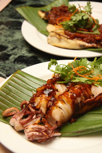 Grilled Squid and Stingray