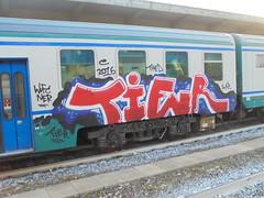070 (en-ri) Tags: tier wufc rosso bianco nero 2016 thed slap train genova zena graffiti writing blu