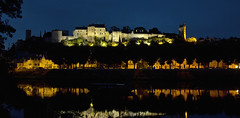Chinon by night (pe_ha45) Tags: chinon night vienne château castle schloss loirevalley centrevaldeloire france river reflection