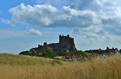 Bamburgh Castle. from the North (Eddie Crutchley) Tags: europe england northumberland bamburgh bamburghcastle fortress outdoor sunlight blueskies castle historicbuilding simplysuperb greatphotographers