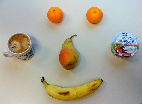 Landjoghurt, Clementinen, Banane & Birne