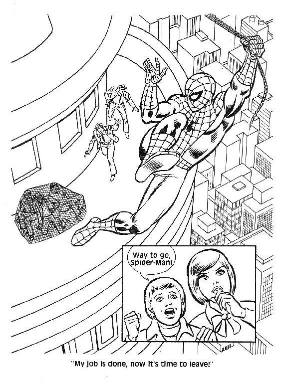 Spider-Man Unmasked! Coloring Book016