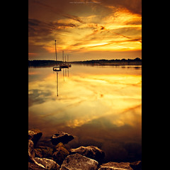 For you, my treasure... (Marc Benslahdine) Tags: longexposure water landscape gold golden treasure or lac explore ciel arbres dor nuages bateau paysage frontpage reflets foryou rocher fort transparence coucherdesoleil lightroom etang longexp longexposition newvision poselongue dore tamronspaf1750mmf28xrdiii vairessurmarne canoneos50d marcopix basenautique tripax