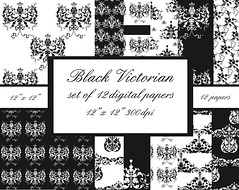 black preview (northdesign) Tags: white black scrapbook scrapbooking design graphics background victorian download damask ditial digitalpaper patternedpaper journalin