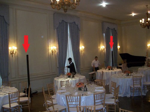 Wedding at Meridian House, Chris Laich Music Serivices equipment set up