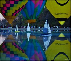 Sail or Fly? (-=[Joms]=-) Tags: park travel usa reflection nature water festival boat fly colorful balloon sail hs10 hs11 pnsers