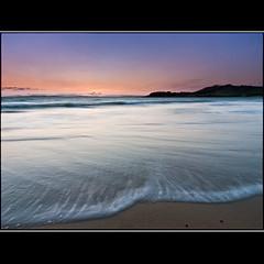 (David Panevin) Tags: longexposure morning sky bw seascape beach water clouds sunrise landscape waves australia olympus tasmania e3 beforesunrise cremorne sigma1020mmf456exdchsm southarm bwnd davidpanevin